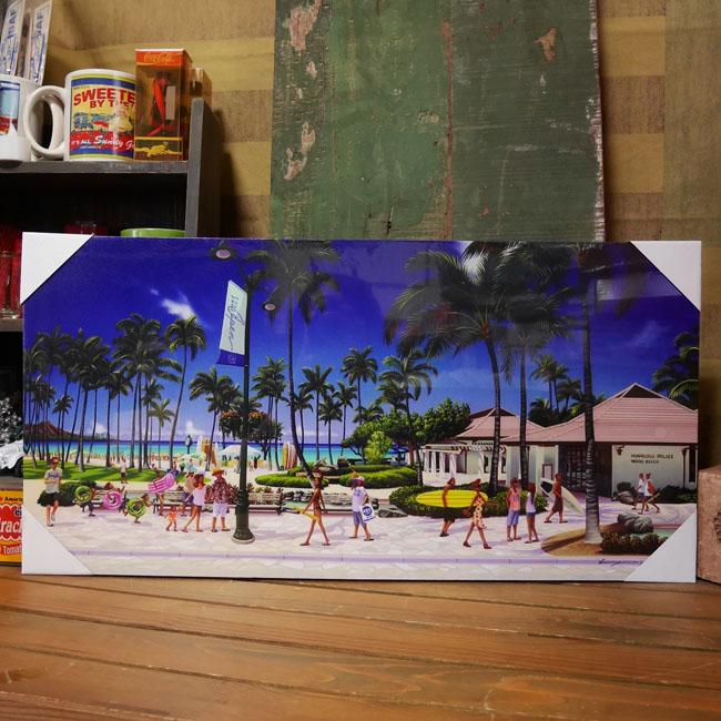 ハワイアン【HAWAII OF HAWAII 】栗山義勝 キャンバスポスター インテリア額 アメリカン雑貨画像