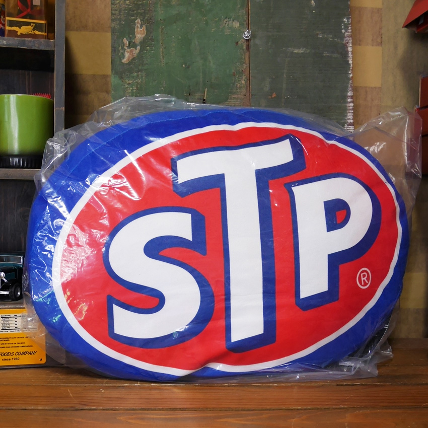 STP OVAL アドバタイジング クッション アメリカンガレージ 座布団画像