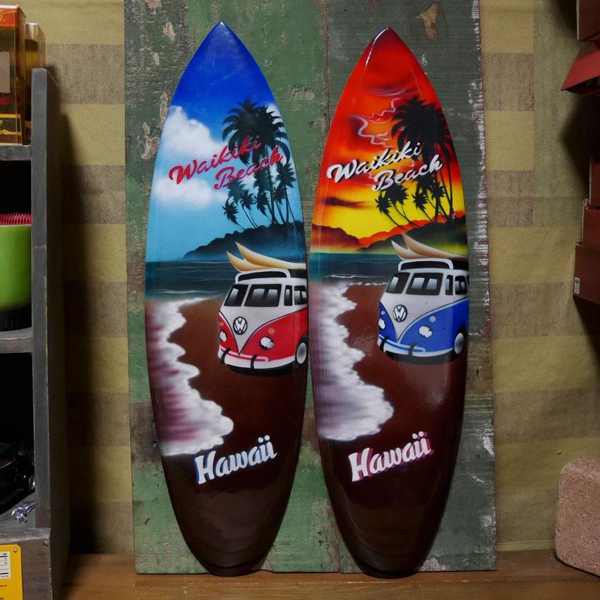 サーフボード ハワイアン インテリア 木製看板 ウォールプレート アメリカン雑貨画像