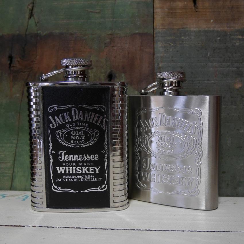ジャックダニエル スキットル Jack Daniel's ヒップフラスコ ウイスキーボトル 3oz アメリカン雑貨画像