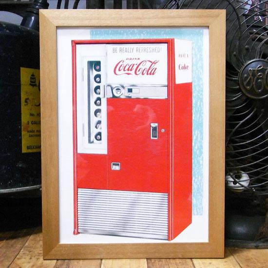 インテリアピクチャー 【コカ・コーラ】広告ポスター インテリア額の画像