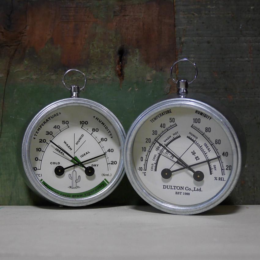 ダルトン 温度計・湿度計 Thermo-hygrometer ラウンド   アメリカン雑貨画像