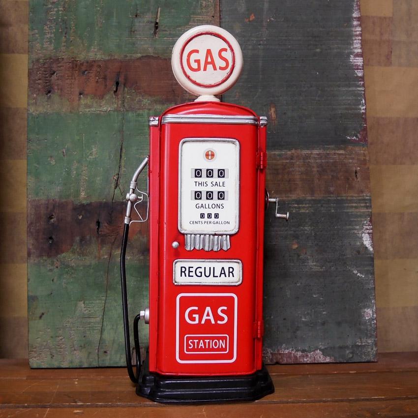 ガソリンポンプ ブリキのおもちゃ インテリア オブジェ アンティークガスポンプ アメリカン雑貨画像