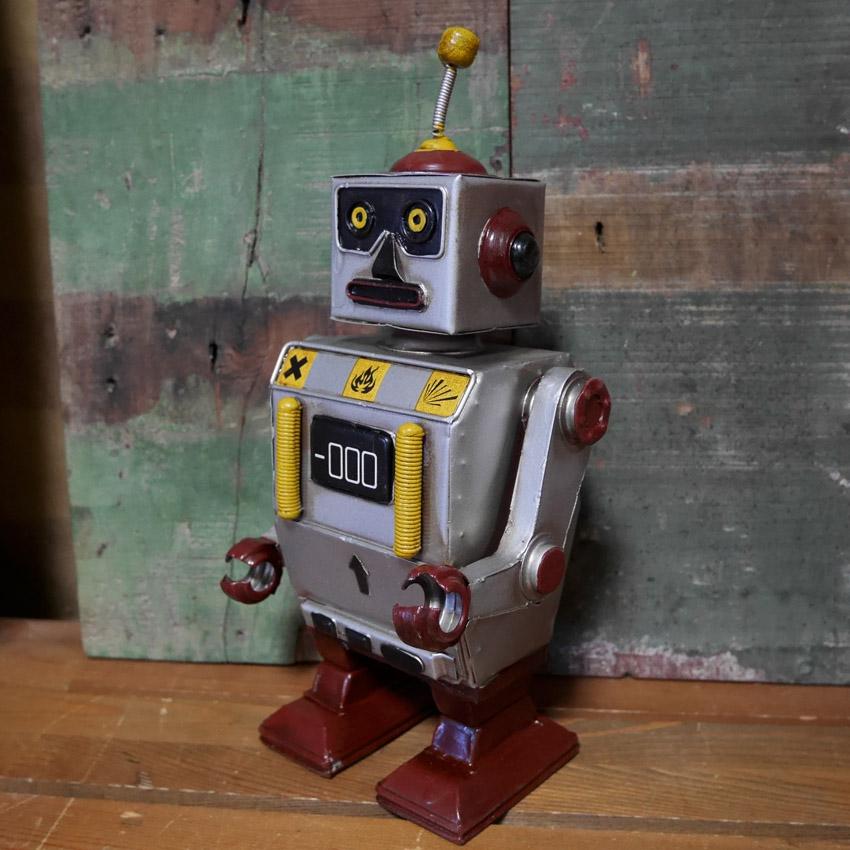 ブリキロボ ブリキのおもちゃ インテリア オブジェ レトロロボット アメリカン雑貨画像