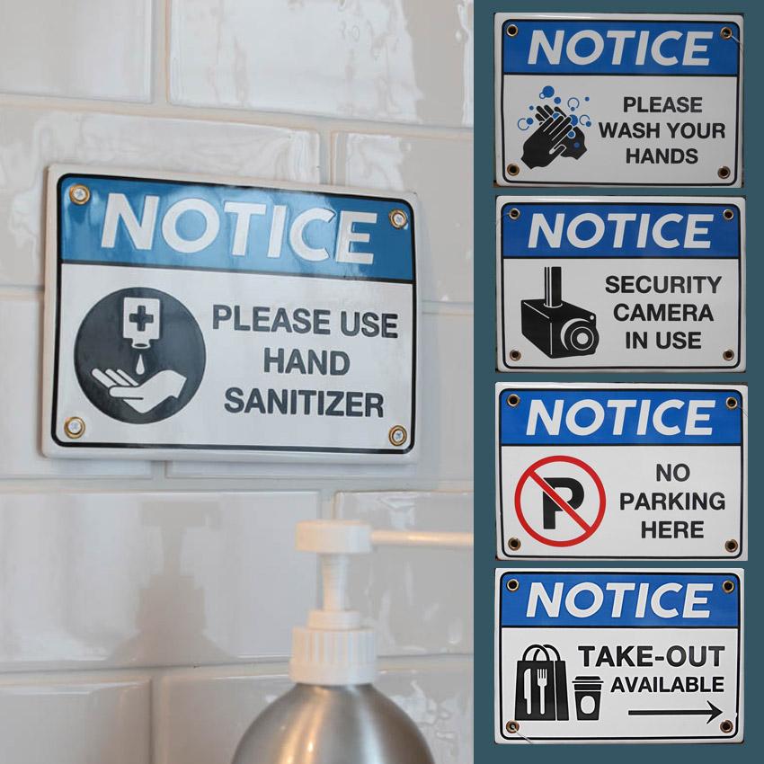 ダルトンホーロータイプインフォメーション サイン看板 警告サイン アメリカン雑貨画像