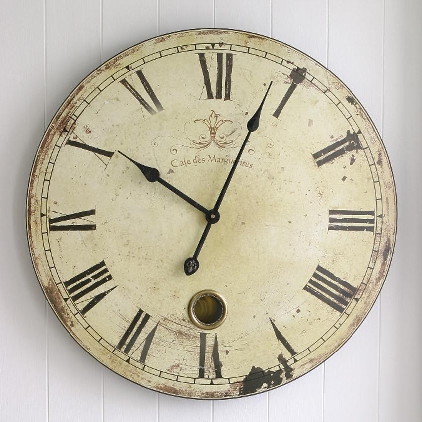 カフェ・ラージクロック 壁掛け時計 アンティーク レトロ ウォールクロック アメリカンインテリア画像