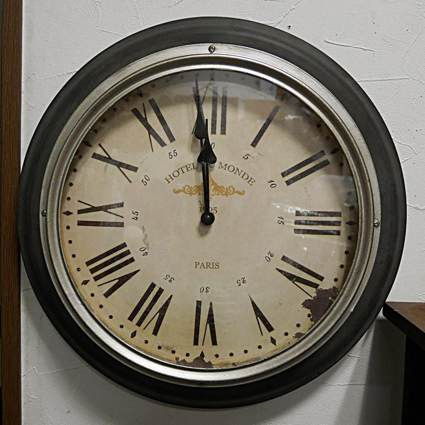 シルバーリム・ウォールクロック 壁掛け時計 アンティーク レトロ ウォールクロック アメリカンインテリア画像