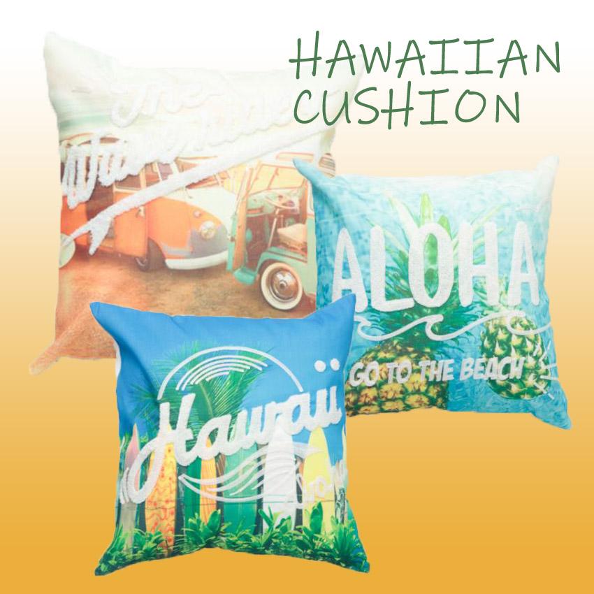 エンフォト クッションカバー ハワイアン インテリア 背当てクッション アメリカン雑貨画像