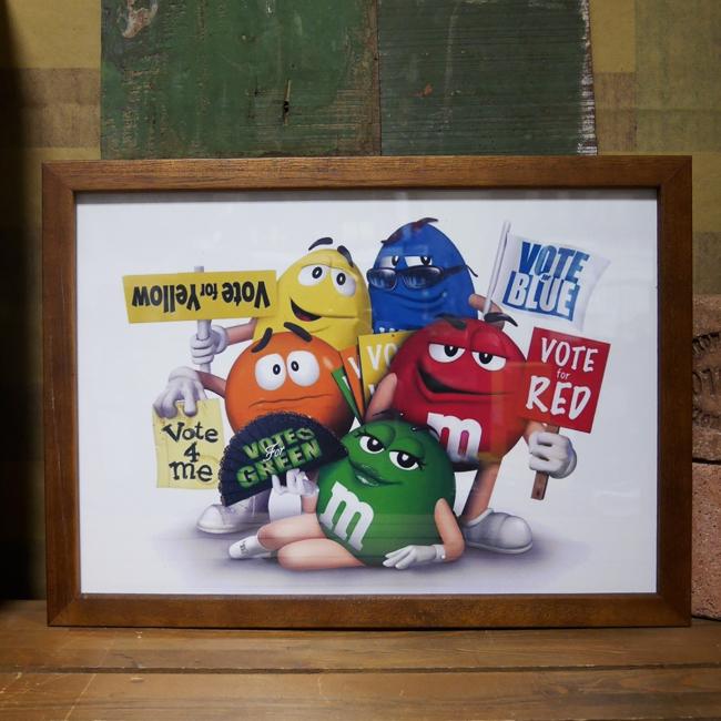 M&M's  エム&エムズポスターインテリアピクチャー インテリア額 アメリカン雑貨画像