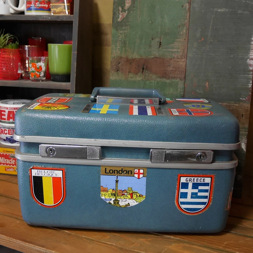 ヴィンテージ コスメボックス Samsonite Royal Traveller 小物入れ メイクボックス 収納ボックス画像