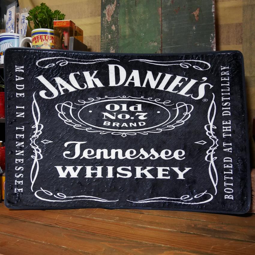 ジャックダニエル フロアマット インテリアマット JACK DANIEL'S キッチンマット アメリカン雑貨画像