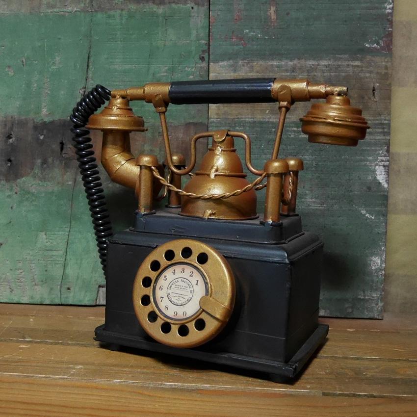 ヴィンテージ テレフォン 電話機 貯金箱 オールドアメリカン雑貨 置物 オブジェ インテリア雑貨画像