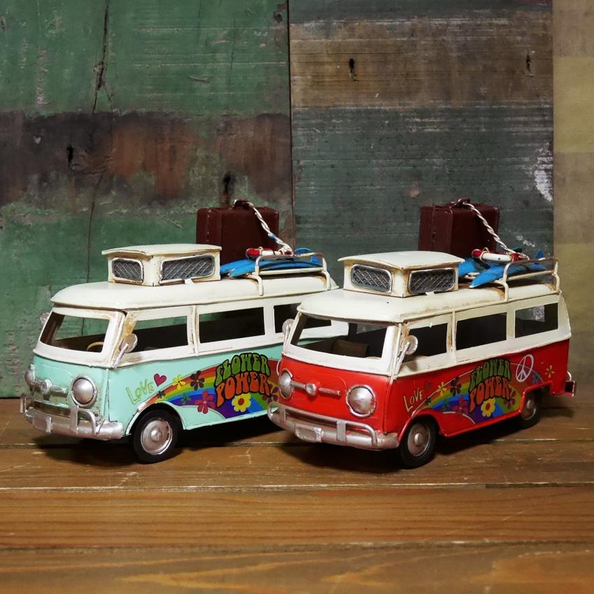 ヴィンテージカー Bus ブリキのおもちゃ バス  インテリア ブリキのおもちゃ アメリカン雑貨画像