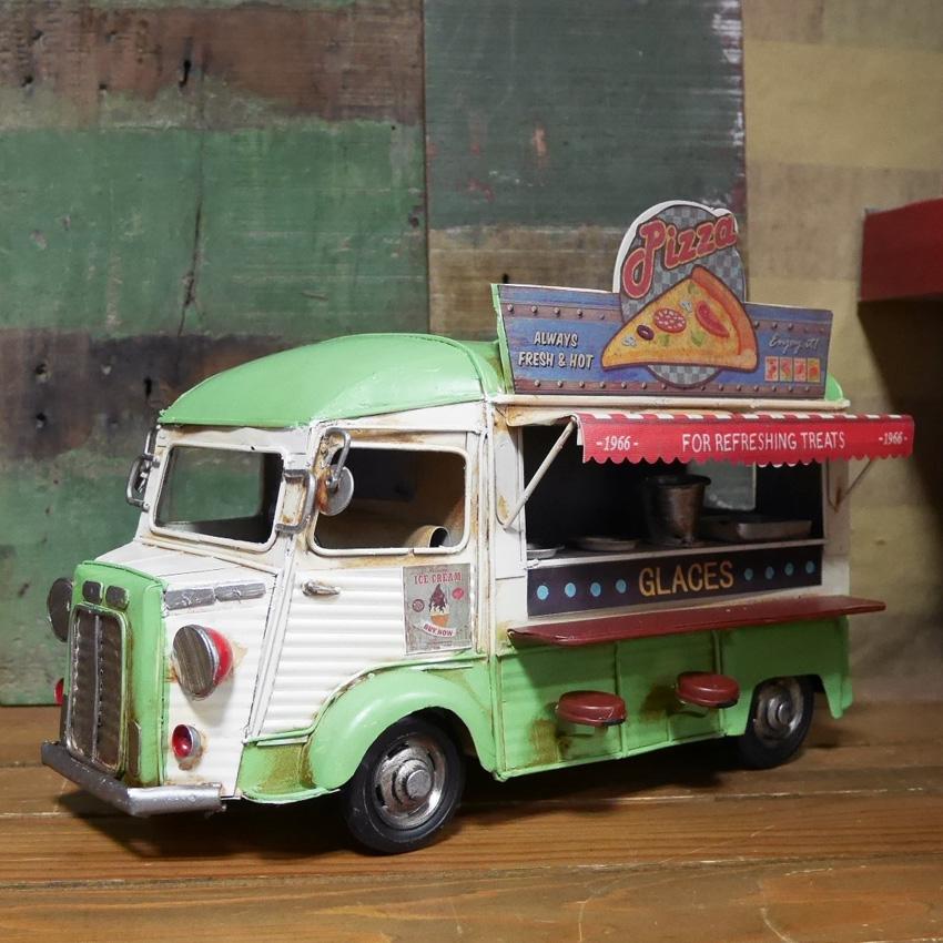 ヴィンテージカー PIZZA Shop  キッチンカー ピザショップ ブリキのおもちゃ アメリカン雑貨画像
