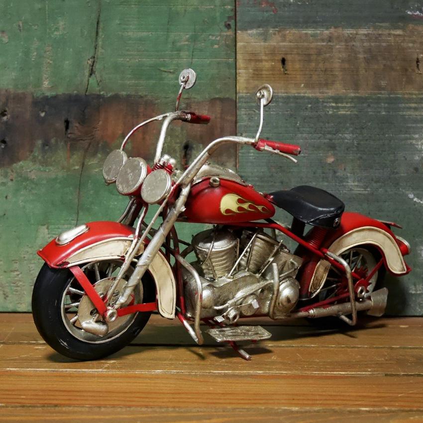 ヴィンテージ モーターサイクル RED FOX ブリキおもちゃ ガレージインテリア アメリカン雑貨画像