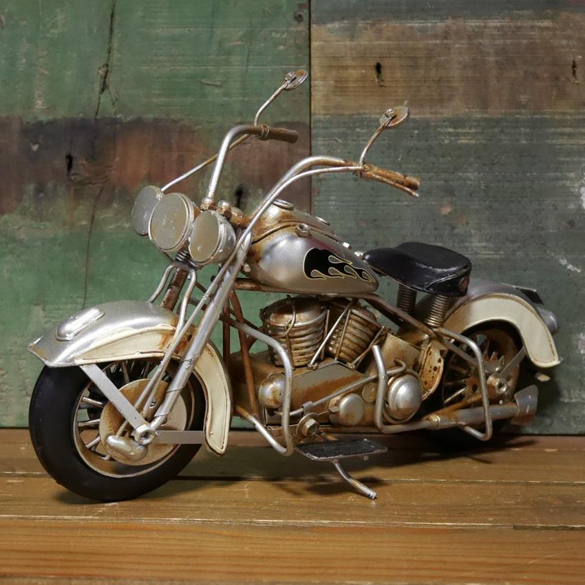ヴィンテージ モーターサイクル SILVER FOX ブリキおもちゃ ガレージインテリア アメリカン雑貨画像