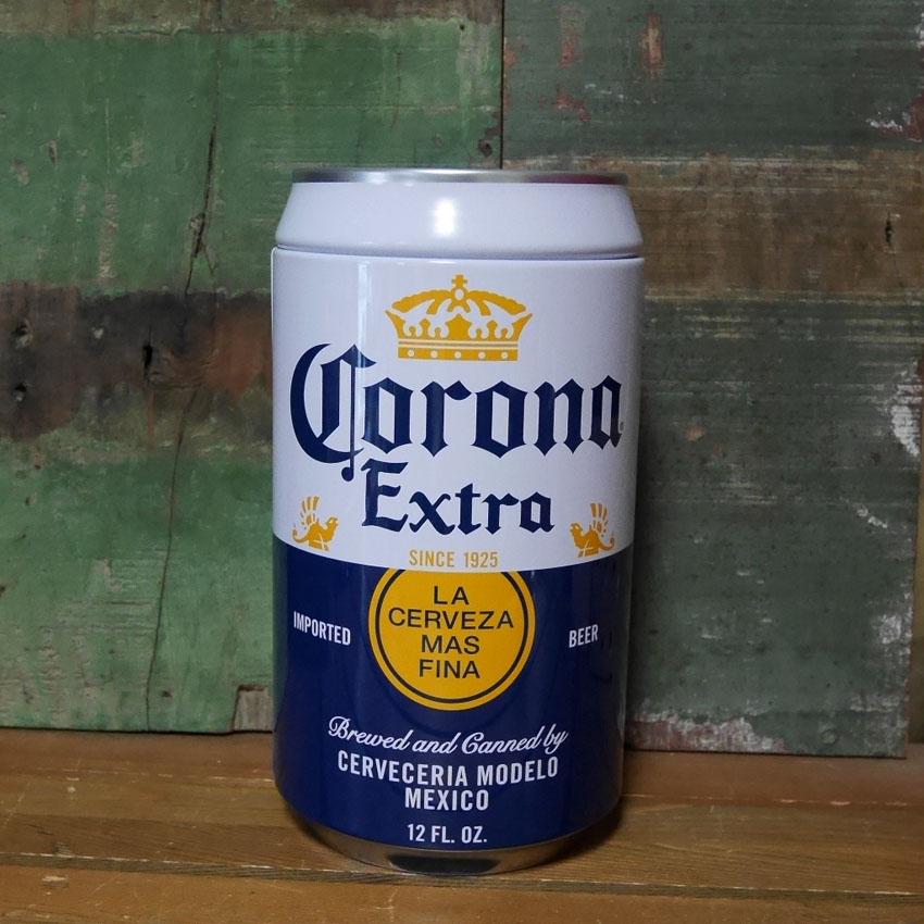 コロナビール貯金箱 缶バンク Corona Extra  置物インテリア アメリカン雑貨 画像