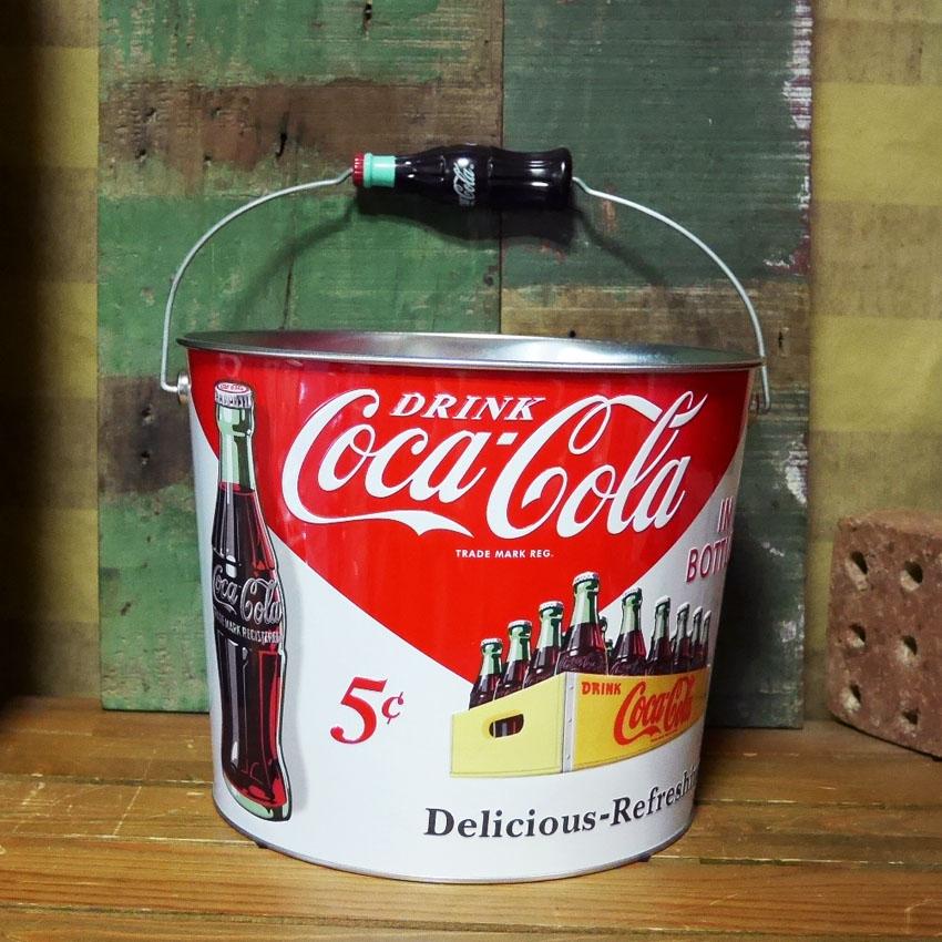 コカコーラ ブリキバケツ ティンバケツ ワインクーラーコカ・コーラ  アメリカン雑貨画像