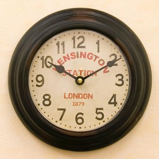 掛け時計 KENSINGTON STATION ケンジントンステーションクロック レトロ雑貨の画像