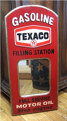 木製壁掛けミラー パブミラー【テキサコ】アメリカン雑貨の画像