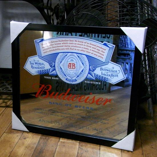 壁掛けミラー パブミラー【バドワイザー】アメリカン雑貨の画像