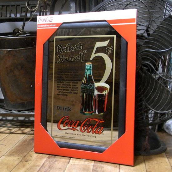 壁掛けミラー パブミラー【コカ・コーラ】アメリカン雑貨画像
