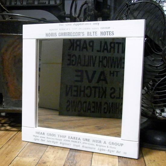 壁掛けミラー 木製ミラー 吊り鏡 アメリカン雑貨画像