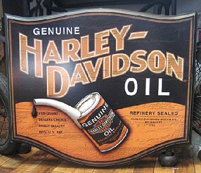 ハーレーダビッドソンインテリアボード【オイル缶】アメリカンインテリア アメリカン雑貨の画像