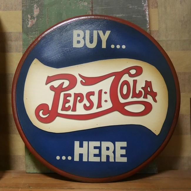 ペプシコーラ 木製看板 PEPSI COLA レトロ アンティーク  アメリカンインテリア アメリカン雑貨の画像