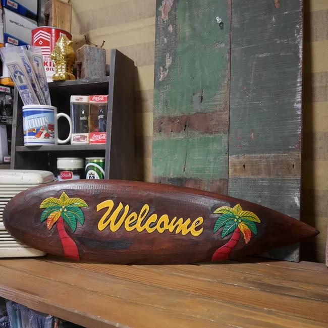 ビーチウォールサイン SURF ウエルカムボード ハワイアン  木製看板 アメリカン雑貨画像