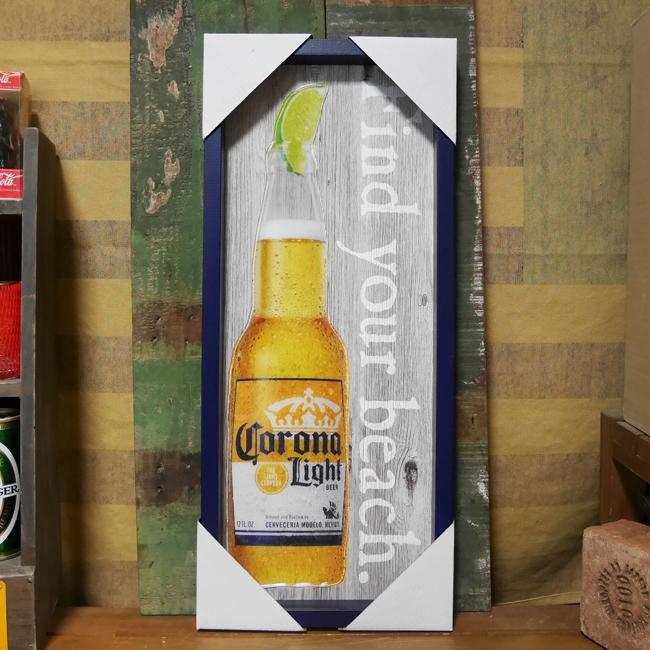 CORONA  ウッディー フレーム アート コロナ インテリア 木製看板 アメリカンインテリア  アメリカン雑貨画像