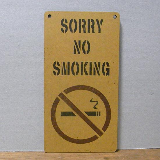 インフォメーション ミニサインボード 【NO SMOKING 禁煙】インテリア雑貨の画像