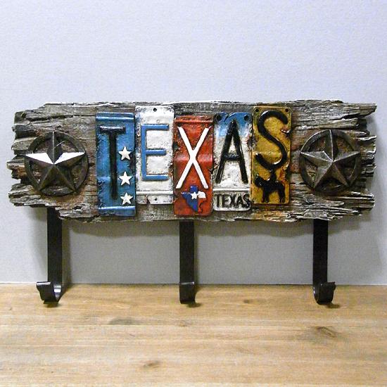 テキサス3連フックハンガー  アメリカン雑貨インテリア雑貨画像