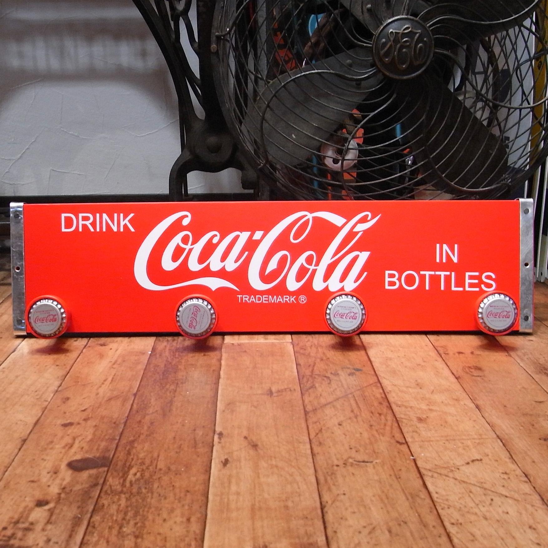 コカ・コーラ木製コートハンガー【ボトルキャップ】アメリカン雑貨 インテリア雑貨画像