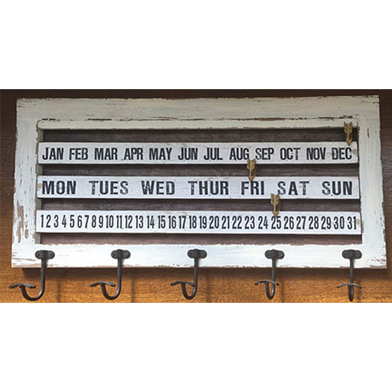 【SALE】ウッデンウォール カレンダー ハンガー アメリカン雑貨 インテリア雑貨の画像
