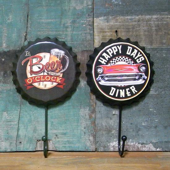 ボトルキャップ型フック アメリカン雑貨 インテリア雑貨画像