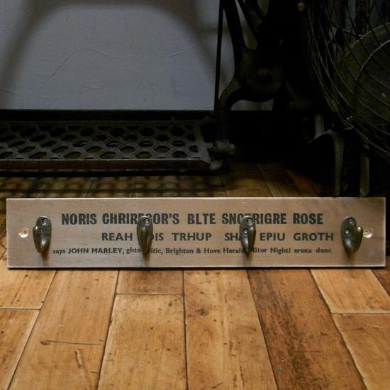 4連ウッドフックハンガーアメリカン雑貨 インテリア雑貨の画像