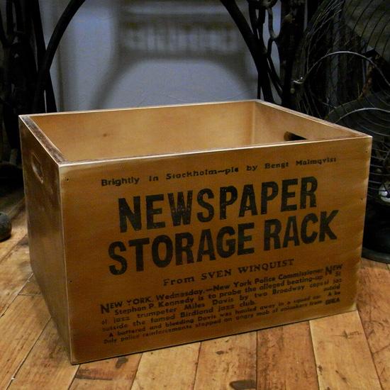 新聞ストッカー アンティーク 収納 ストレージボックス アメリカン雑貨の画像