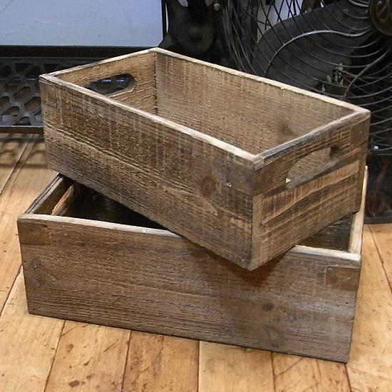 ウッドボックス 2個セット 収納ボックス  インテリア雑貨 ガーデニング雑貨の画像