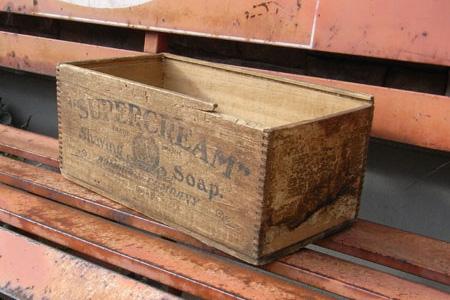 ユーズド ウッドケース ウッドクレート インテリア雑貨 アンティーク雑貨の画像
