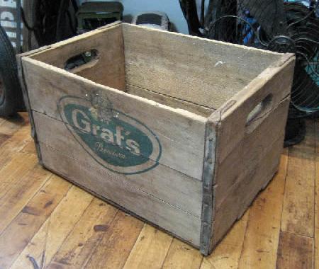 ユーズド ウッドケース ウッドクレート 木箱 インテリア雑貨 レトロ雑貨の画像