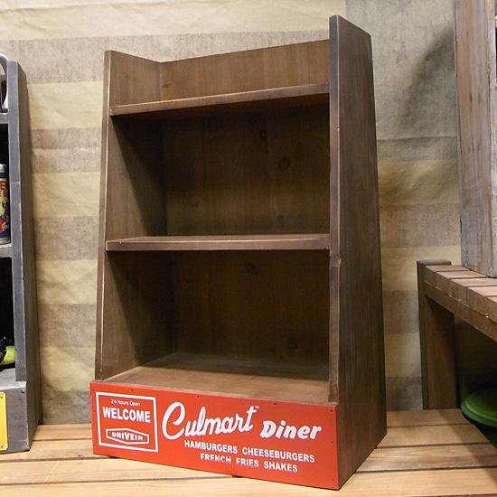 カルチャーマート 木製ラック 飾り棚 インテリア雑貨 アメリカン雑貨の画像