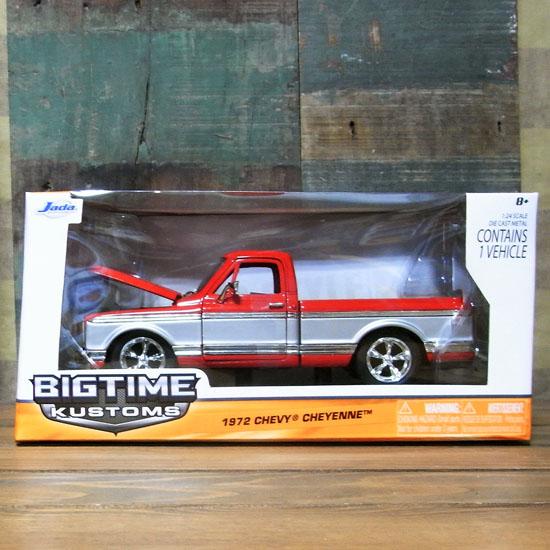 シェビー 1972 シャイアン ピックアップトラック【レッド】アメ車 レトロミニカーの画像