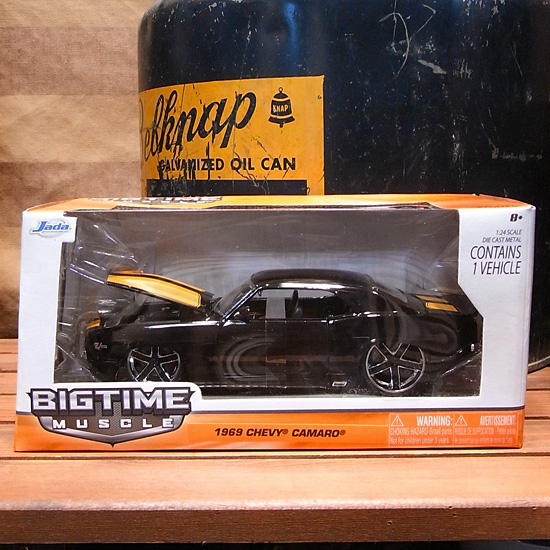 シボレー カマロ 1969 ブラック JADA BIGTIME アメ車 レトロミニカーの画像