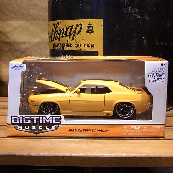 シボレー カマロ 1969 イエロー JADA BIGTIME アメ車 レトロミニカーの画像
