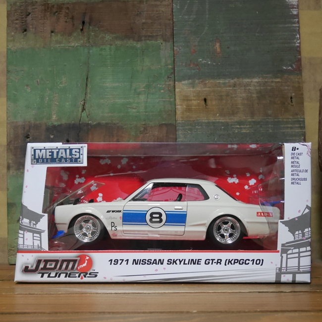1971 Nissan Skyline 2000 GT-R スカイライン ミニカー JADA アメリカン雑貨画像