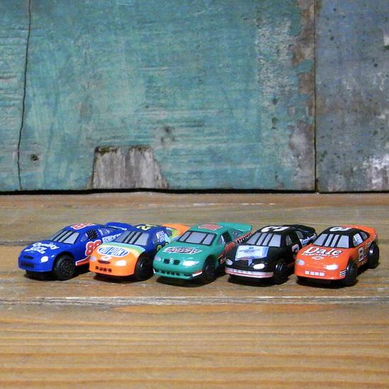 NASCAR ミニチュアカー 5Pセット ナスカー インテリア ミニカー アメリカン雑貨の画像