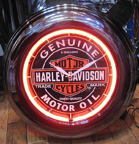 ハーレーダビッドソン ネオンクロック 壁掛け時計 アメリカ雑貨画像