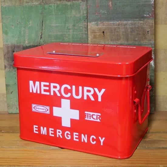 マーキュリー エマージェンシーボックス MERCURY 救急箱 アメリカン雑貨の画像