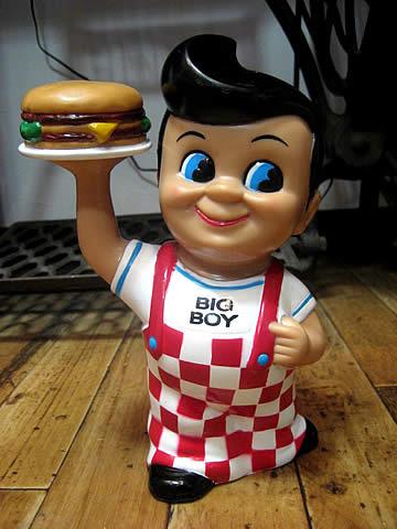 ビッグボーイソフビバンク 貯金箱 アメリカンキャラクターアメリカン雑貨の画像